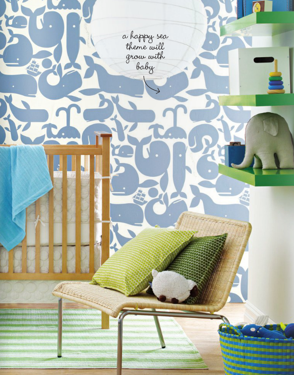 sea-themed nursery #design #GetLostOnIssuu @The Bump