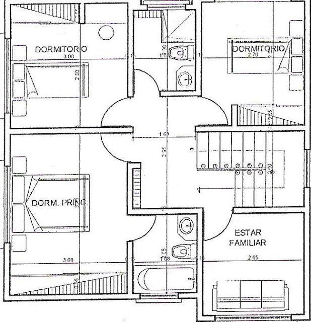 Planos de casas de 300m2 planosteo pinterest small for Planos estructurales pdf