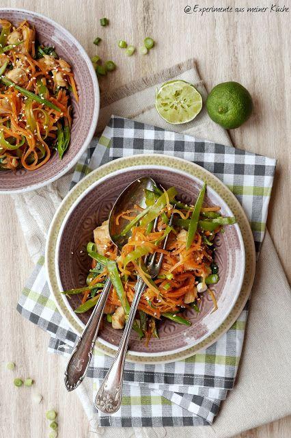 Asiatische Möhrennudeln mit Hähnchen | Blogger Winter-Wohlfühl-Küche ...