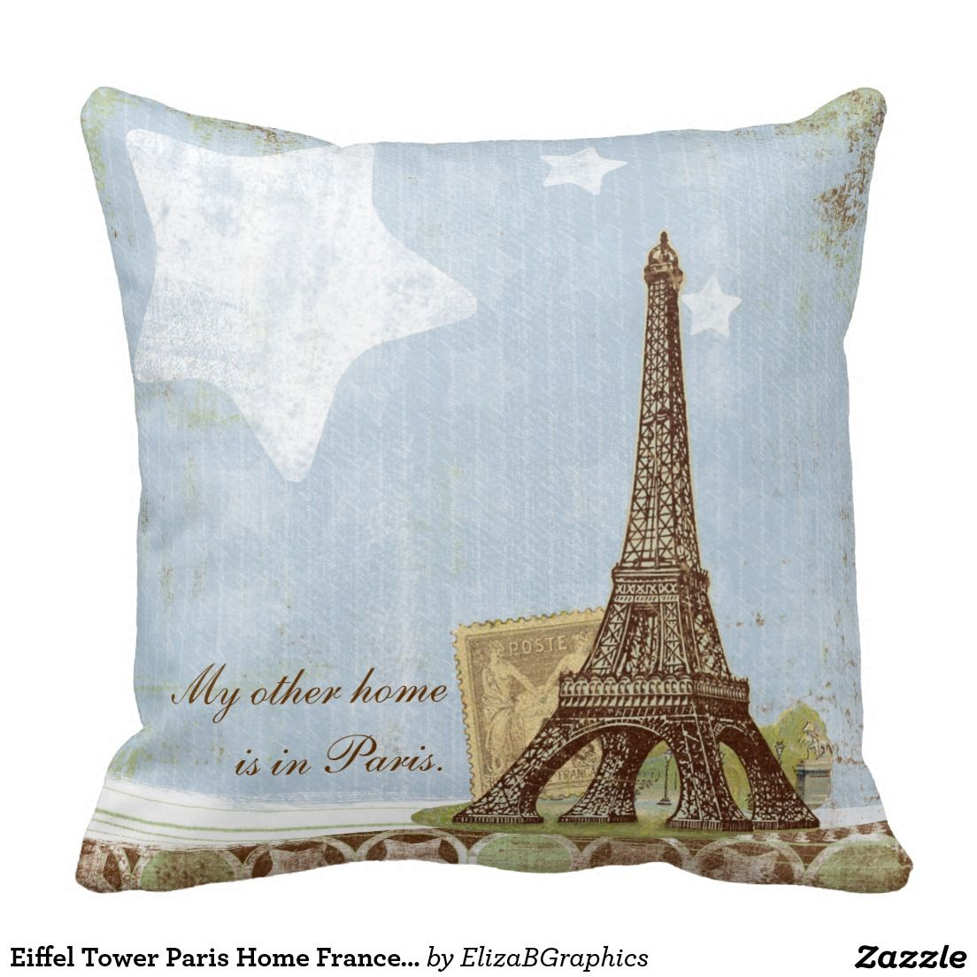 My other home is in Paris...I wish! #pillow #Paris #EiffelTower ...