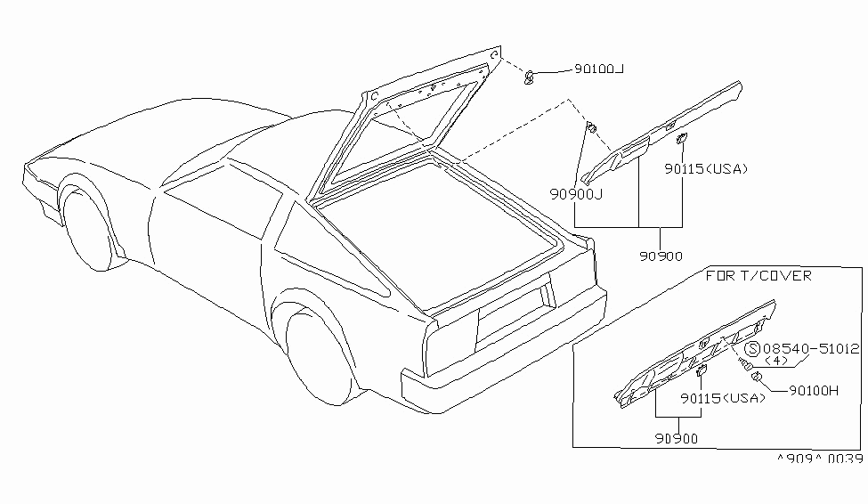 Part Diagram 300zx