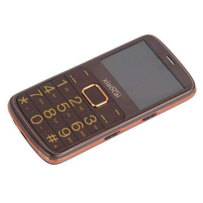 Coffee Xiaocai A600 Elders Mobile Phone 231 Inch Network 2g Dual Sim Support Fm Bt Gps