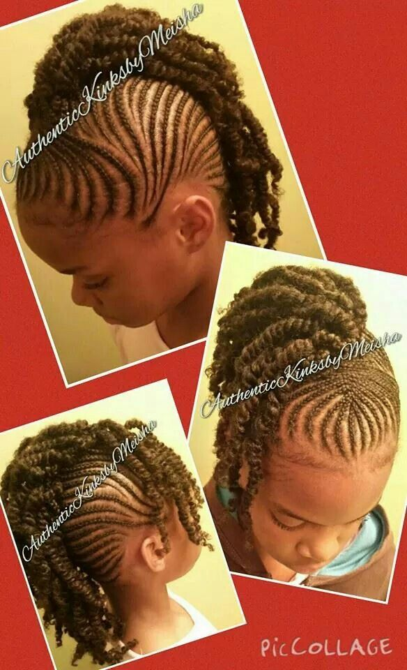 Mohawk With Twist Little Girld Braided Style Natural