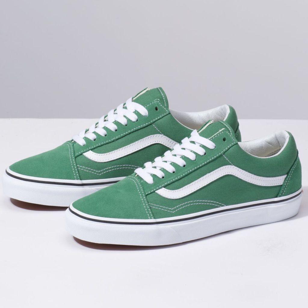 Vans Old Skool Low-Top Green Suede