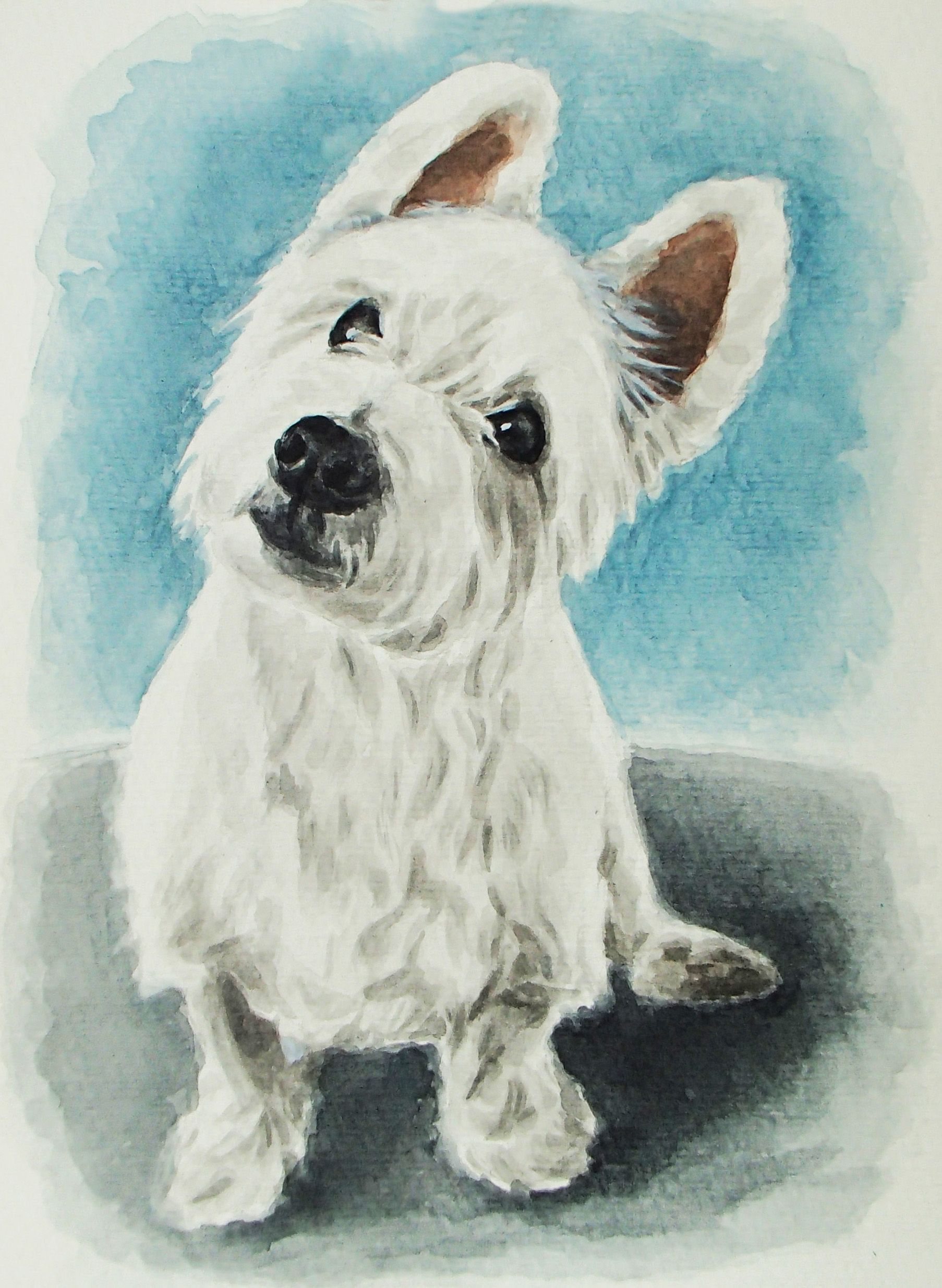 Dog Portrait Custom Watercolor Dog Portrait Original Dog Painting