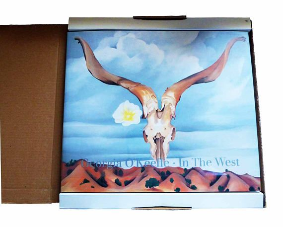 Seasidecollectibles Is Pleased To Bring You Georgia Okeeffe In The West A Tremendous Art Book In Original Box Case Edi Vintage Art Prints Art Vintage Art