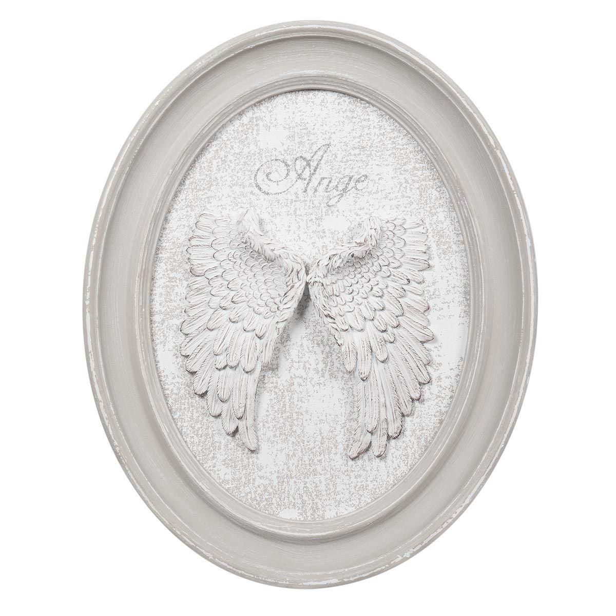 Cuadro medallón de madera 40 x 50cm ANGE