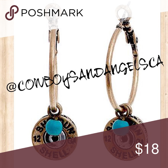 BULLET SHOTGUN SHELL HOOP EARRINGS ❣PRICE IS FIRM❣ please remember Posh takes a commission for every sale. Most items listed are from my actual business. Get the most for your money and check my site for ongoing sales that I cannot offer on Posh.   🚫 NO TRADES🚫  ⚜ PLEASE RATE WHEN RECEIVE ⚜  PERKS FOR PURCHASING FROM ME: ✅ FAST SHIPPING ✅ TOP RATED SELLER Jewelry Earrings