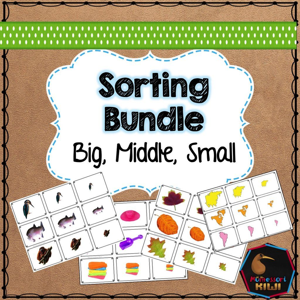 Big Middle Small Themed Math Sorting Bundle
