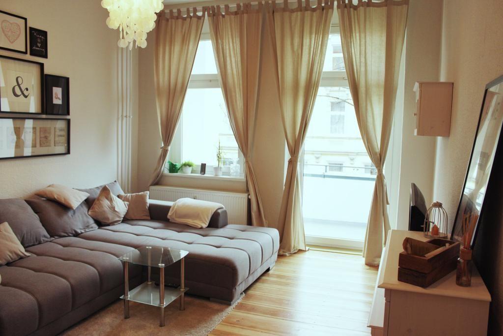 Großes, helles Wohnzimmer mit Balkon #Wohnzimmer #Einrichtung - grose fenster wohnzimmer