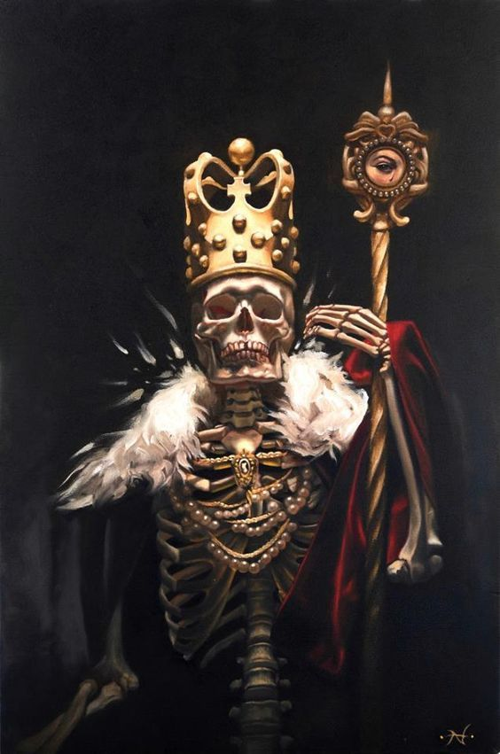Image result for skull king painting rooms ideas for Skeleton king tattoo