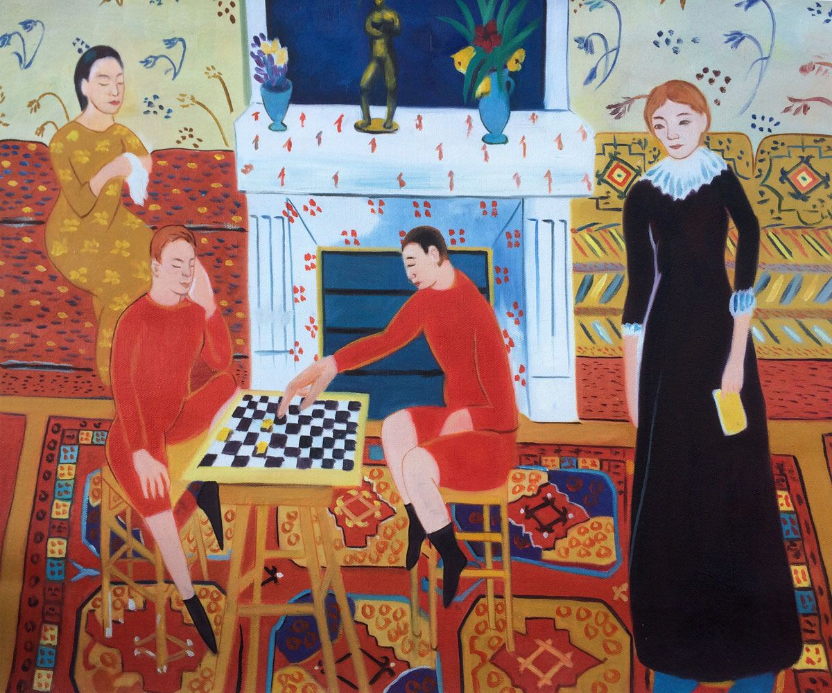 Henri Matisse, The Artist's Family - Hand Painted Oil Painting On Canvas Henri Matisse, The Artist's Family - Hand Painted Oil Painting on Canvas Woman Coats woman in purple coat by henri matisse analysis