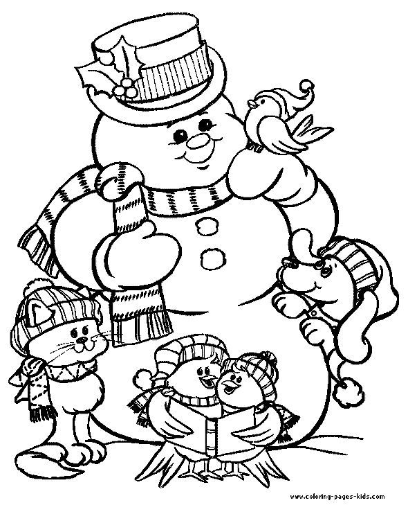 Christmas color page, holiday coloring pages, color plate ...