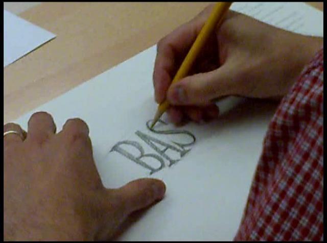 Ken Barber en el 4º CIT by Rodrigo Maroto. Taller de lettering impartido por Ken Barber para el 4º Congreso Internacional de Tipografía.