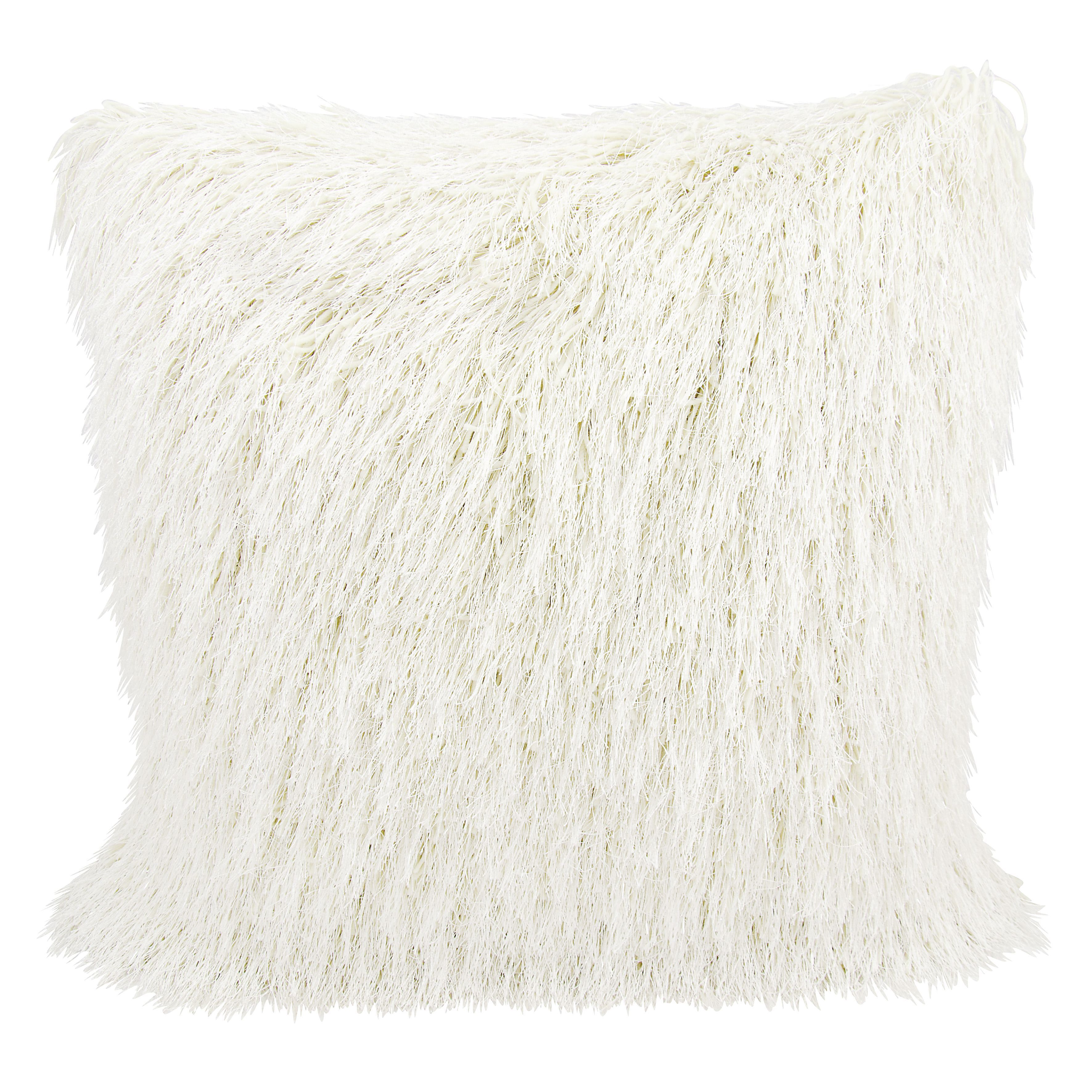 Mina Victory Shag Yarn Shimmer Throw Pillow by Nourison