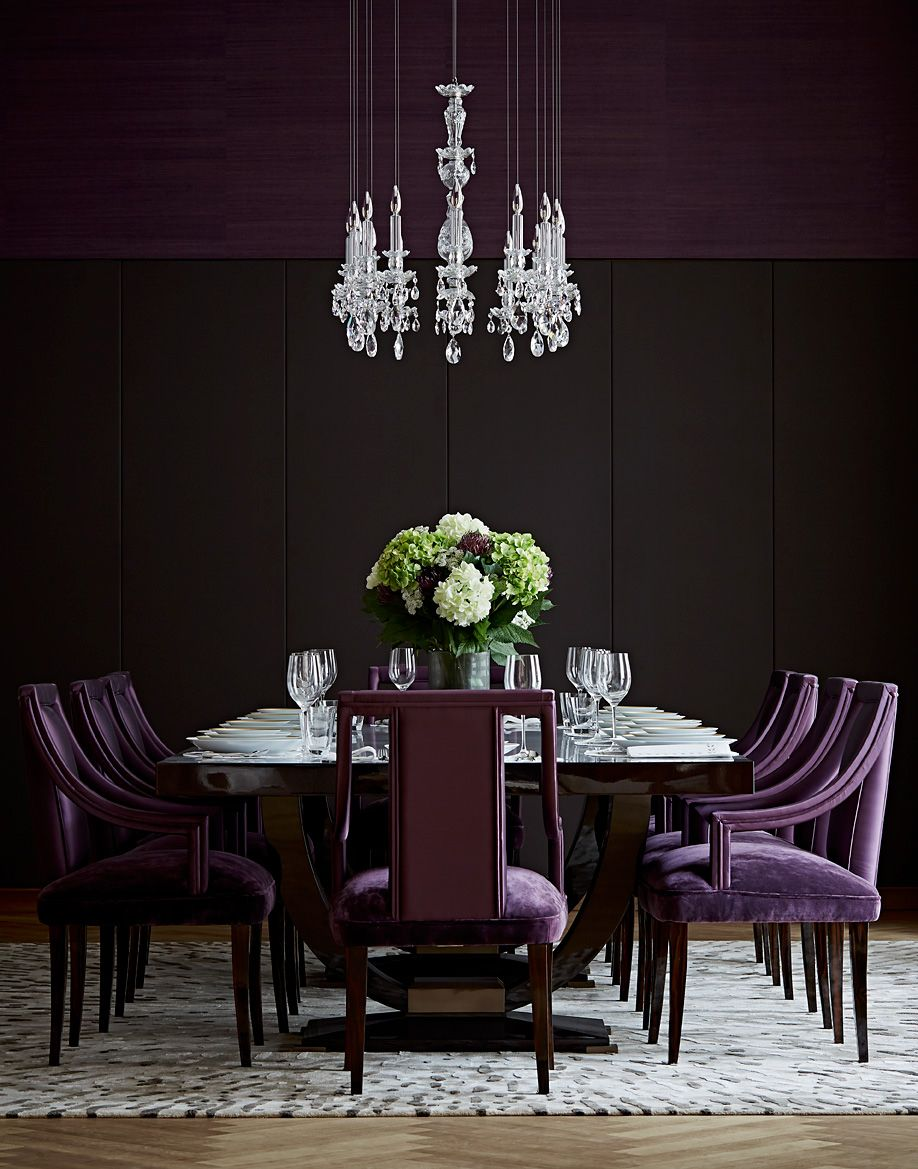Amazing Light Fixture In 2020 Purple Dining Room Purple Dining