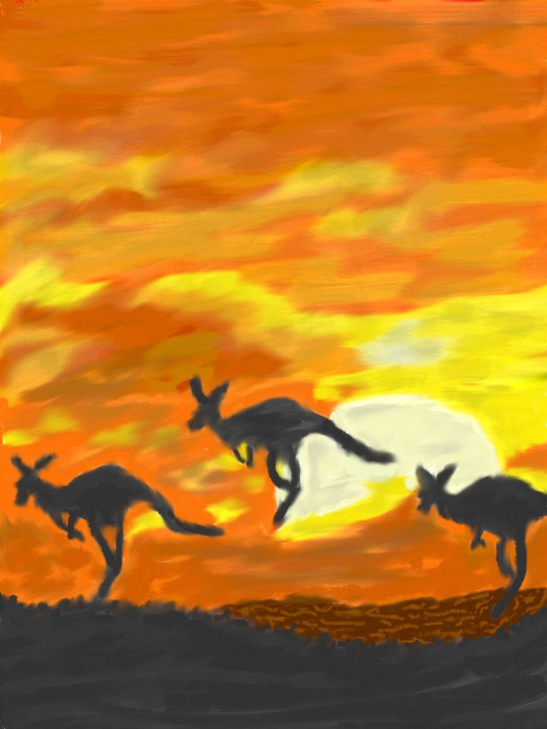 Australian sunset (2014) copyrights by Creative Sketch Design