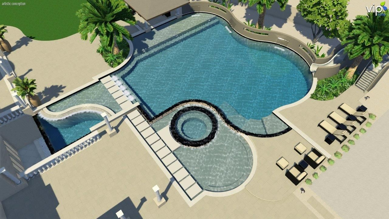 Pool Design Concept For A Current Project In Seville Golf U0026 Country Club  By: Jeromey Naugle, Premier Paradise, Inc.