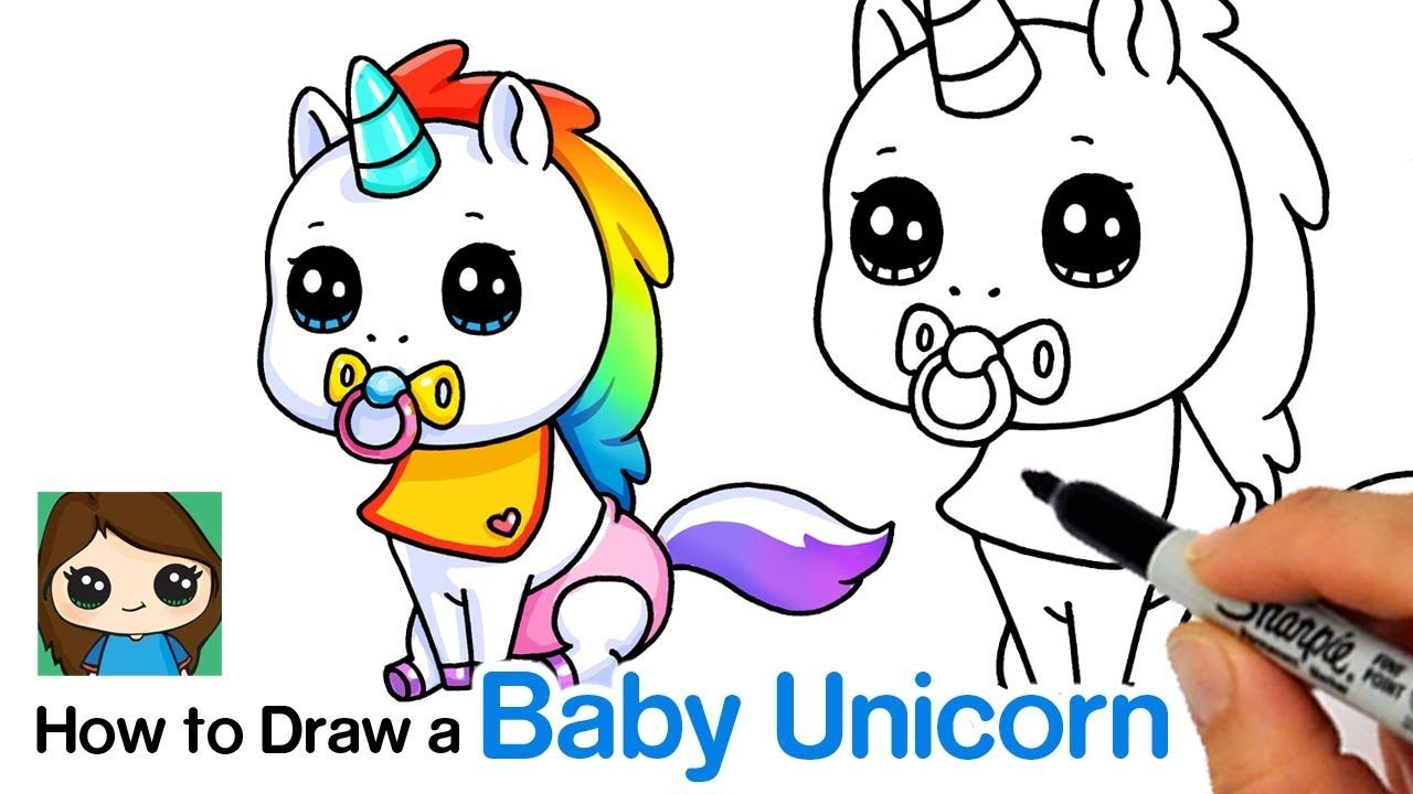 How To Draw A Baby Unicorn Unstable Unicorns Youtube Baby Unicorn Unicorn Drawing Cute Drawings