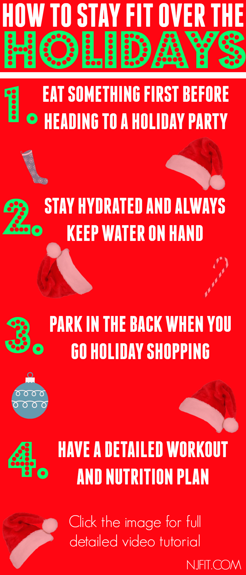 How to AVOID the Holiday Weight Gain!! Saying NO to Santa Belly! http://nataliejillfitness.com/how-to-not-gain-weight-over-the-holidays/