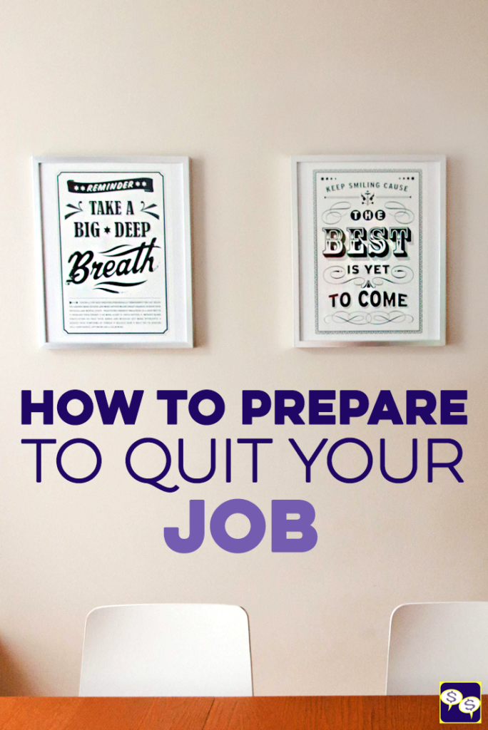Feel like it's time to quit your job, but are too nervous and don't