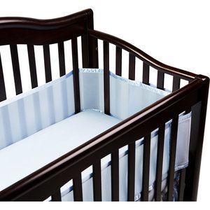 Walmart Breathablebaby Breathable Crib Liner Fits All Cribs Blue Baby Crib Bumpers Mesh Crib Bumper Breathable Bumper