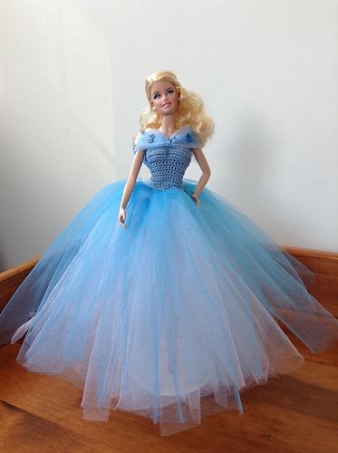 Cinderellas Blue Ball Gown Pattern By Tess Tortorella Doll