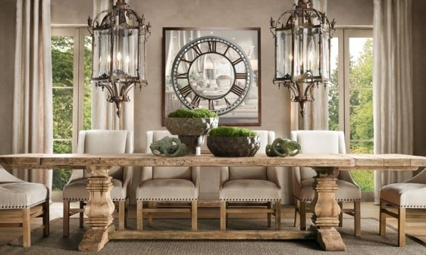 Love The Rustic Table The Hanging Lanterns The Off White