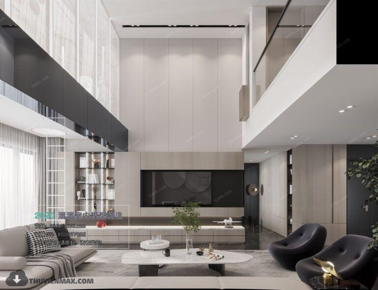 3D Interior Scene File 3dsmax Model Livingroom 382 By Tran Anh