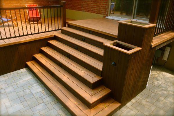 Réalisations - Plani-Paysage Summer Project Pinterest Patios - fabriquer escalier exterieur bois