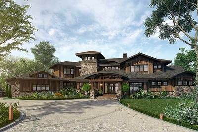 plan 12943kn 4 bedroom mountain lodge house plan in 2019 misc rh pinterest com