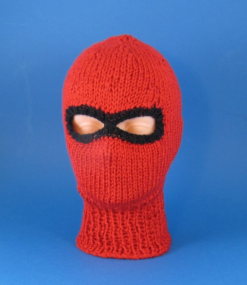 PRINTED KNITTING INSTRUCTIONS-CHUNKY SKI MASK BALACLAVA HAT KNITTING ...