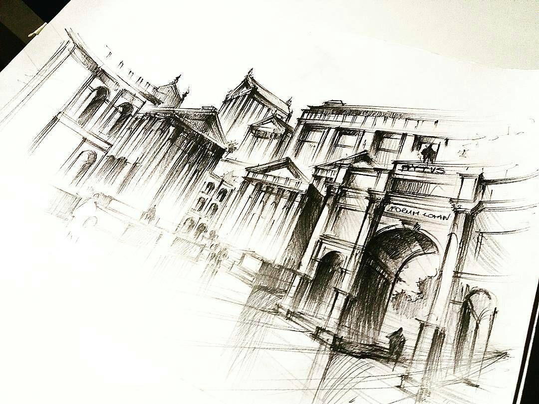cool architecture drawing. Simple Architecture Hereu0027s A Cool Looking Architecture Drawing By Paula Wroblewska Paulaw Inside Cool Architecture Drawing O