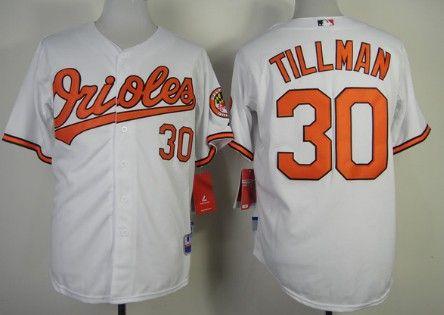 f02de54302a ... baltimore orioles 30 chris tillman white jersey