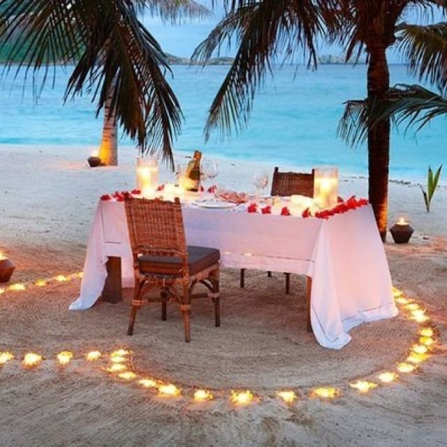 Beach Dinner For Two Romantic For Valentines Day Dinner