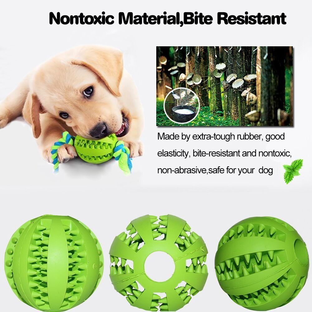 Dog Toy Food Ball Durable Rubber Dog Toy Chew Toys Ball