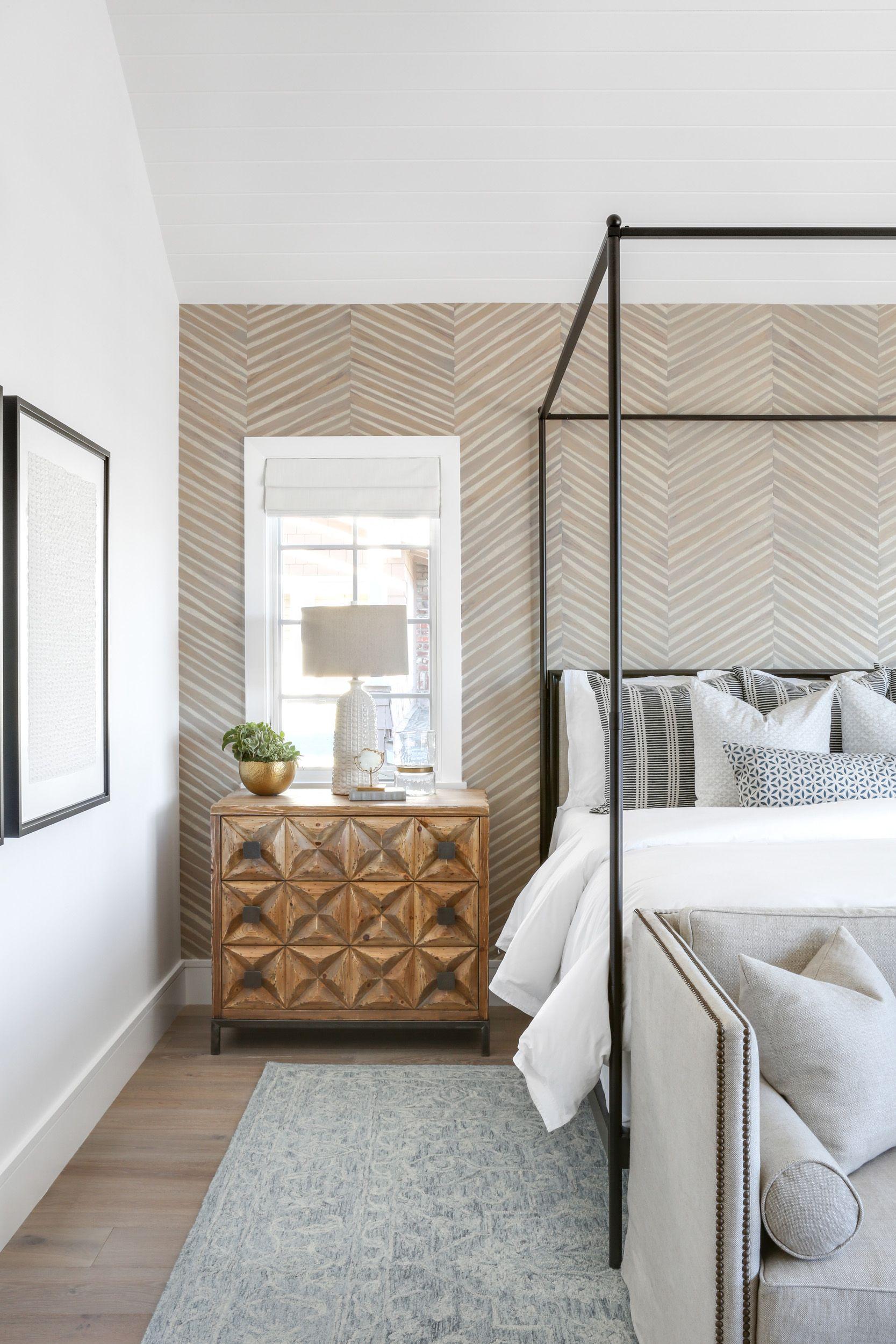 Coastal Scandinavian Lindye Galloway Master Bedroom Renovation