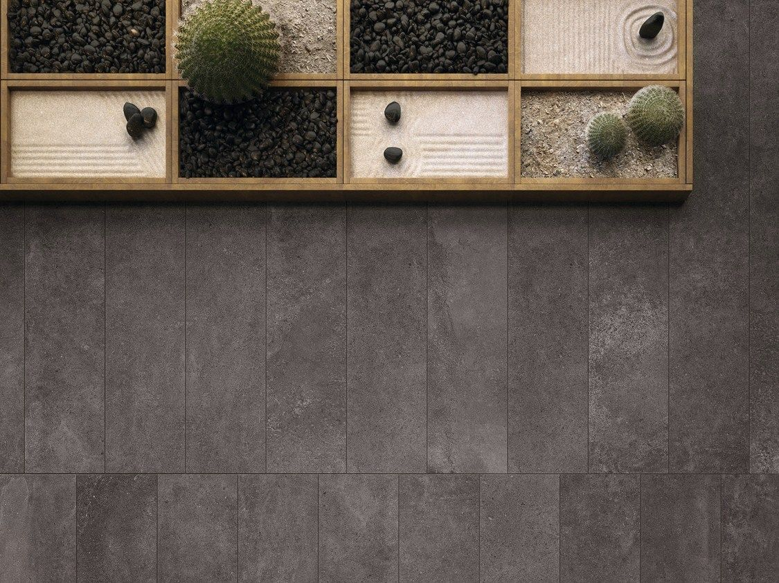 Indoor outdoor flooring moov anthracite moov collection by ceramiche