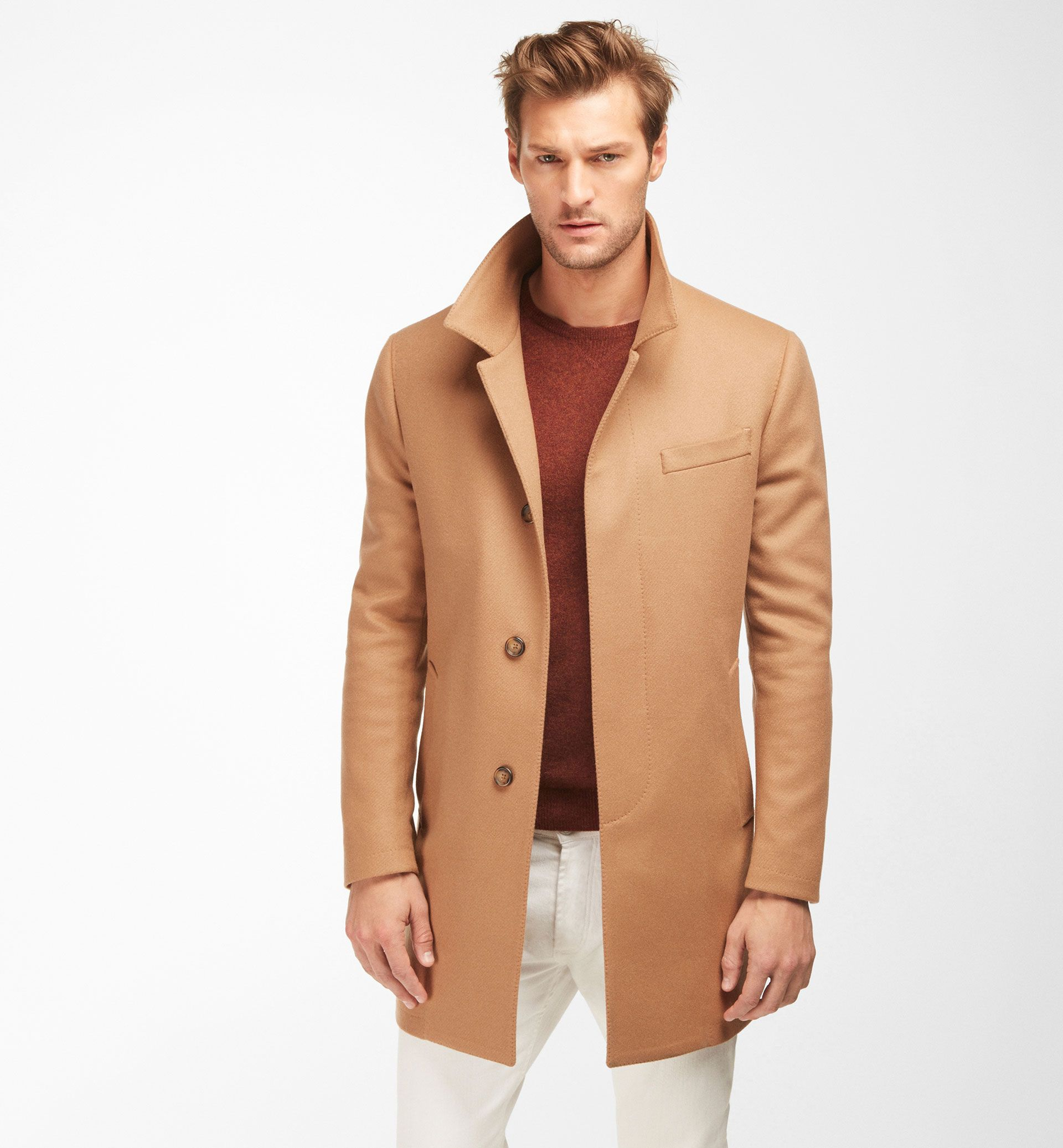 SMART CASHMERE/WOOL COAT - Coats - MEN - Ireland - Massimo Dutti ...