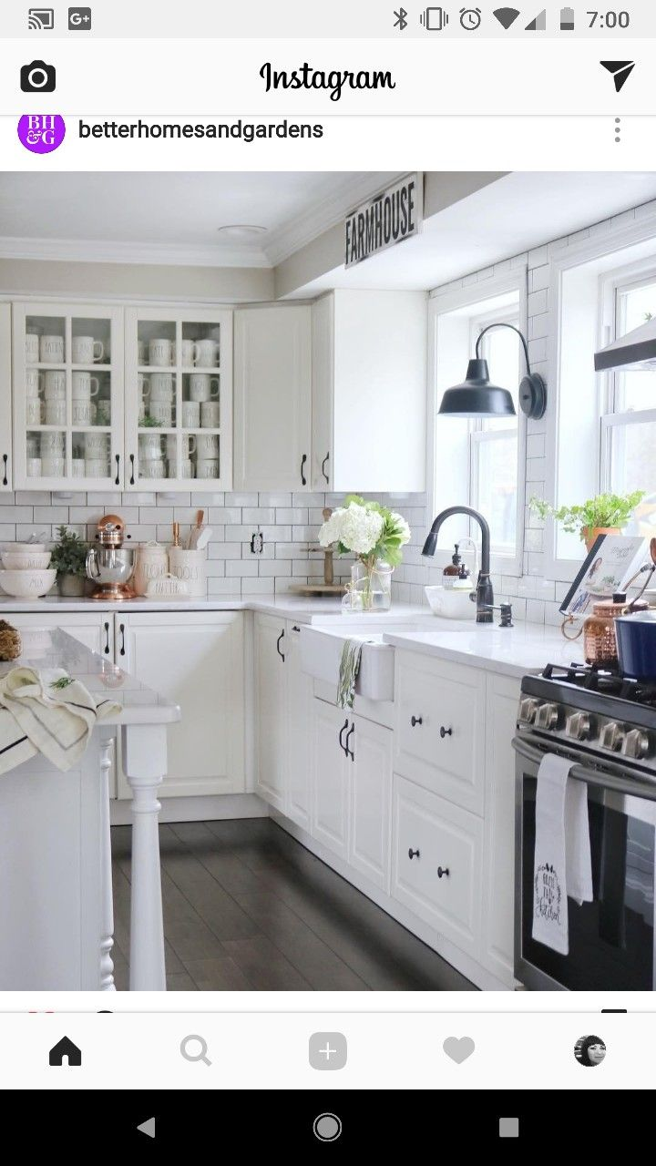 White cabinets with black hardware | Home decor kitchen ...