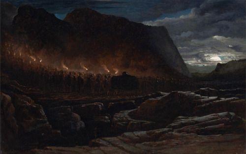 placideavantia: Francis Danby - Funeral Procession (oil on canvas, 1848)