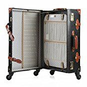 Mens Vintage Suitcase 12″ 20″-26″ Pu Leather Trolley Luggage Sets ...