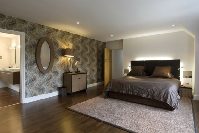 beleuchtung hinter bett kopfteil wandtapeten schlafzimmer pinterest house. Black Bedroom Furniture Sets. Home Design Ideas
