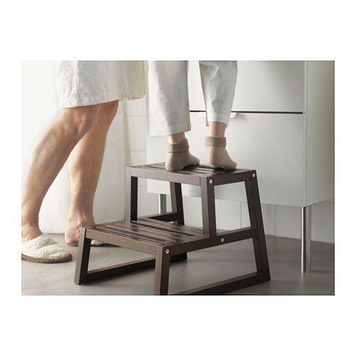 """MOLGER Step Stool - Dark Brown, 16 1/8x17 3/8x13 3/4 """" - IKEA"""