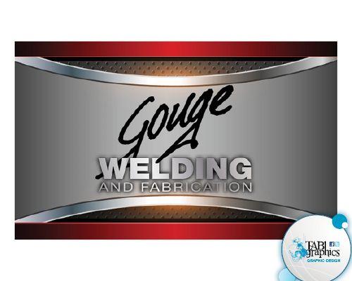 Logo business card design gouge welding business for Welding business card ideas