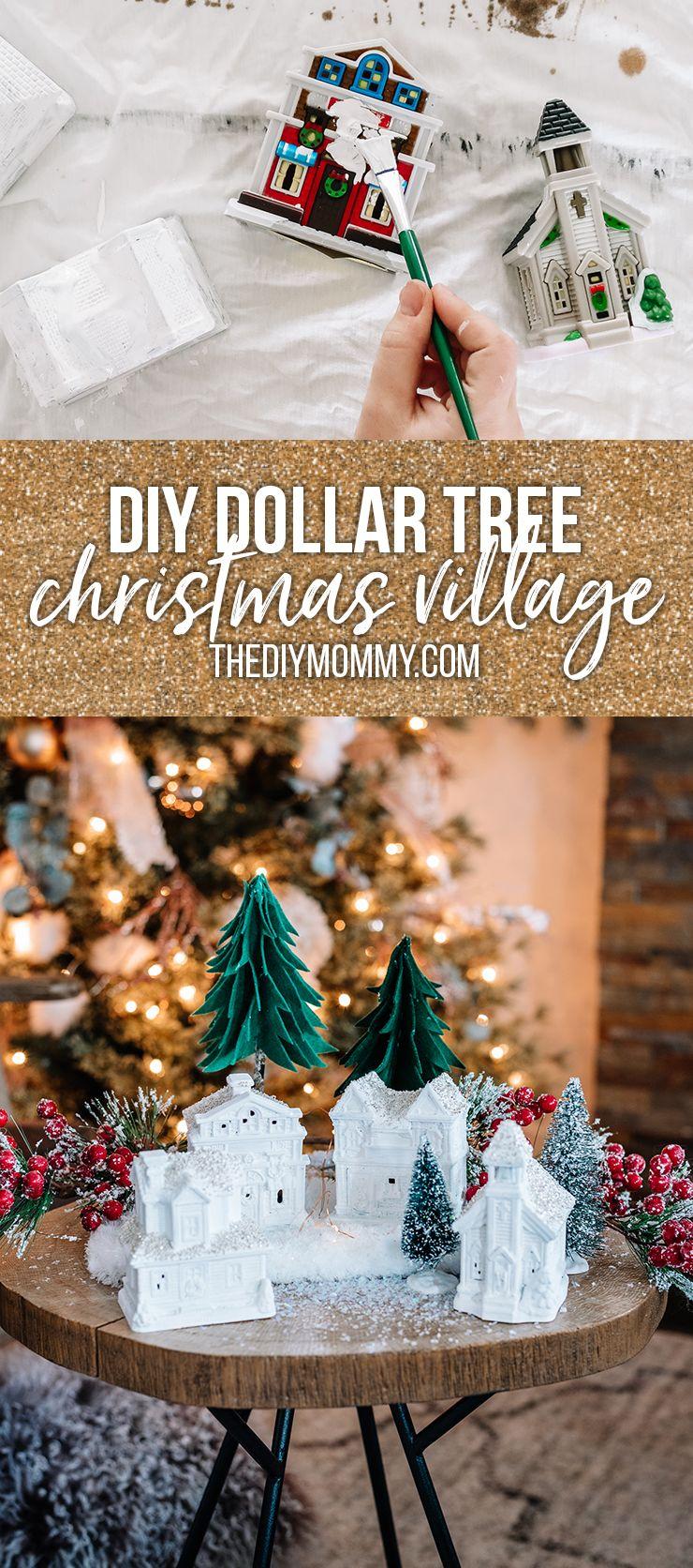 Elegant Diy Dollar Tree Christmas Village The Diy Mommy Dollar Tree Christmas Dollar Tree Diy Dollar Tree Christmas Decor