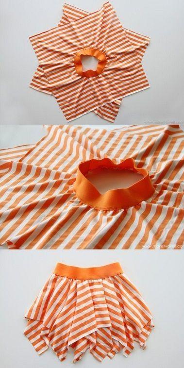 Photo of Çizgi desenli kolay kız çocuk elbise dikimi modeli