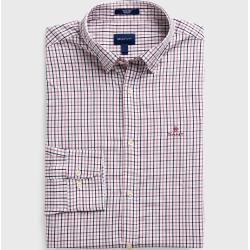 Gant Kariertes Tech Prep™ Twill Hemd (Rot) GantGant #fashiontag