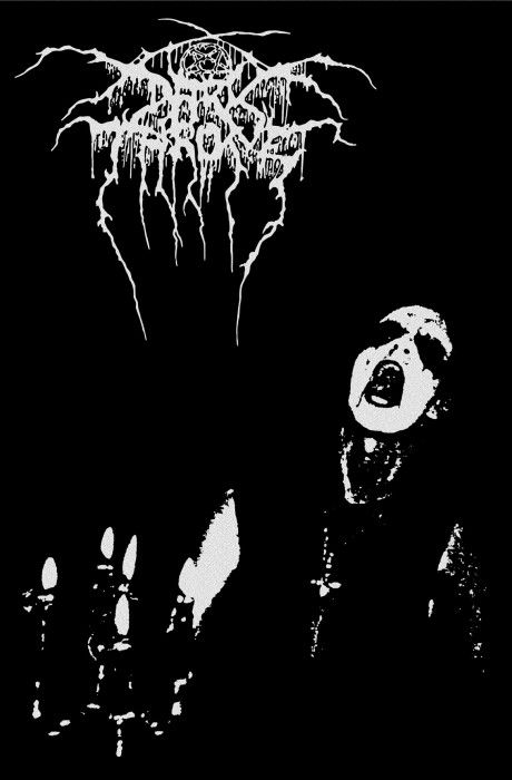 Darkthrone Transilvanian Hunger Textile Poster Black Metal Art Mayhem Black Metal Metal Artwork