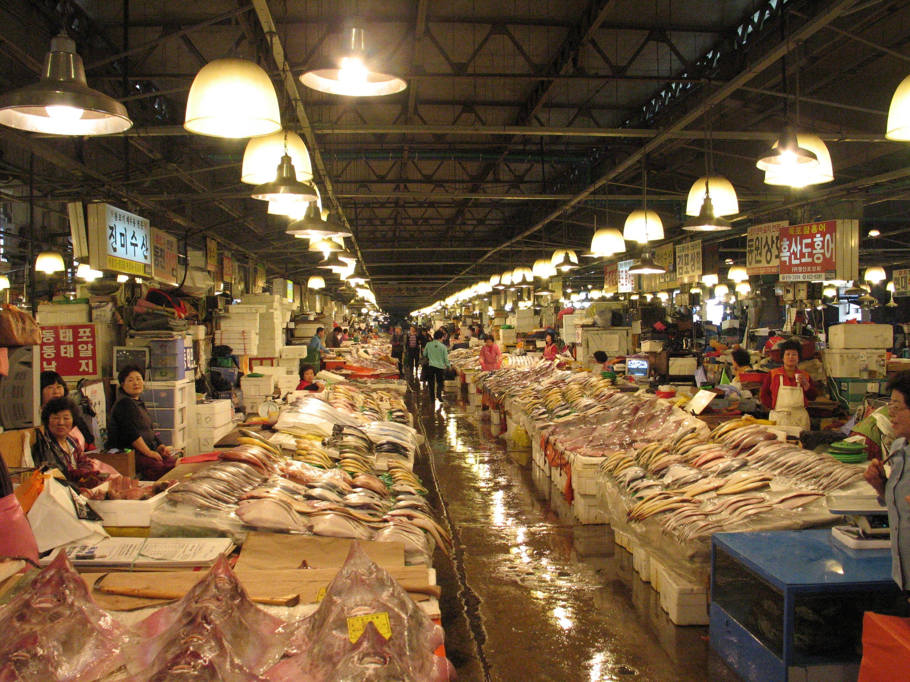 Noryangjin Fisheries Wholesale Market Wikipedia The Free The Fish Market Seoul